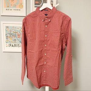 American Eagle Print Button-Down Shirt XL